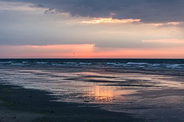 sunset Terschelling van Contrast inBeeld
