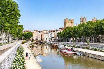 Kanal in der Stadt von Narbonne von Martijn Joosse