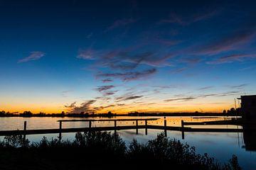 Zoetermeerse Plas | Noord Aa na Zonsondergang van Ricardo Bouman
