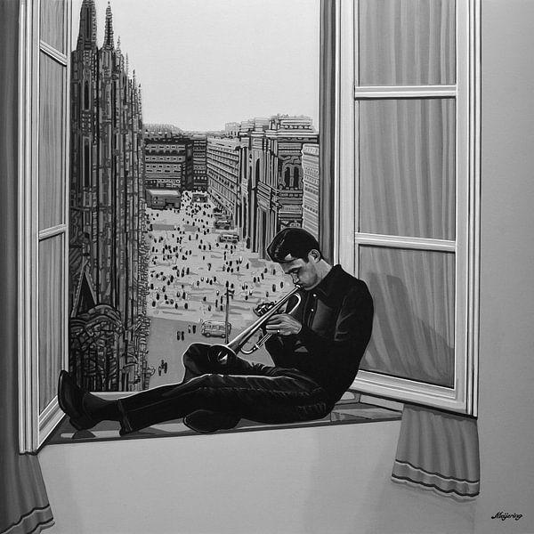 Chet Baker schilderij