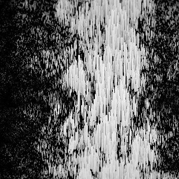 Abstraktes Stangen-Gebirge Quadrat exzentrisch von Jörg Hausmann