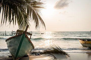 Coucher de soleil sur Koh Rong sur Ellis Peeters