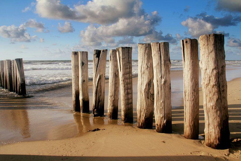 Golfbrekers Domburg , soldiers of the sea..... van Els Fonteine
