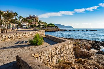 Eiland Mallorca, kust van Cala Millor, Spanje Middellandse Zee van Alex Winter