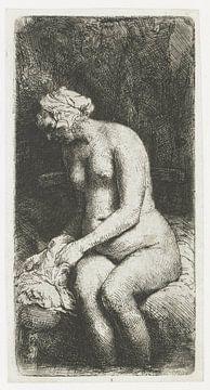 Rembrandt van Rijn, Sitzende nackte Frau, 1658