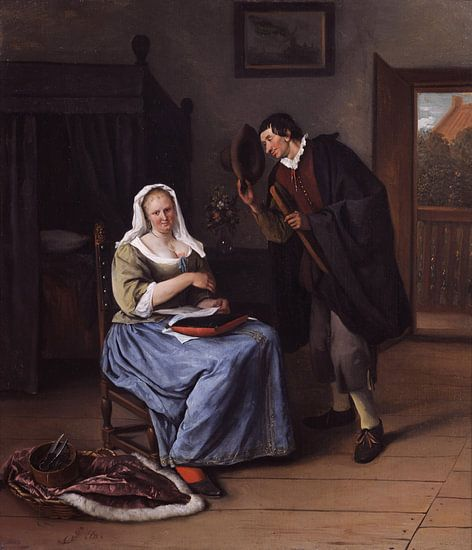 Jan Steen. De koekvrijer van 1000 Schilderijen