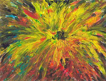 Strahlend gelbe Sonnenblume. von Ineke de Rijk