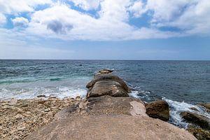 Curacao Pietermaaiweg Zeezicht met Golfbreker