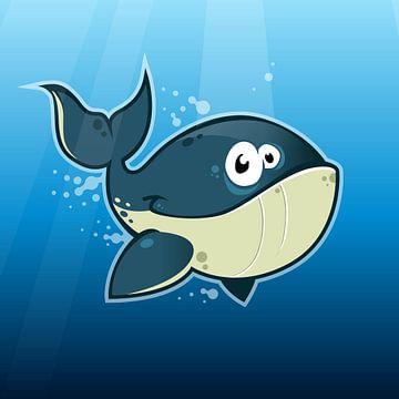 Blij walvisje onder water! van Jaap Tinholt
