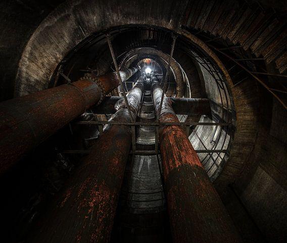 Oude industriele watertoren