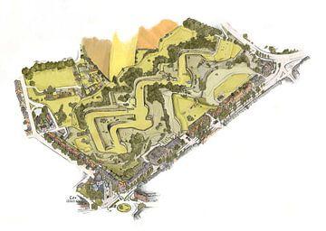 Artwork: Maastricht, De Hoge Fronten, Linie van Du Moulin van Edo Illustrator