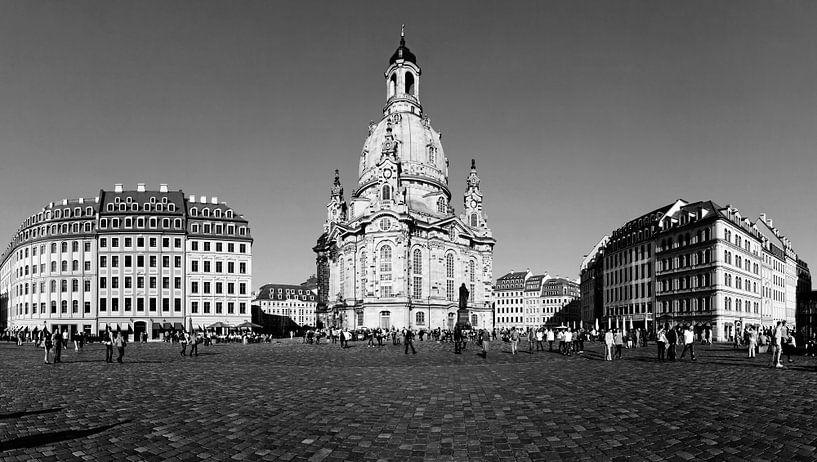 Dresden Neumarkt avec Frauenkirche sur Frank Herrmann