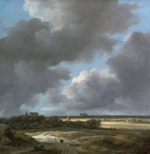 Jacob van Ruisdael - Gezicht op Alkmaar van 1000 Schilderijen