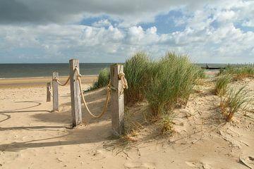 Seilablagerung am Strandpavillon 'Kaap Noord' Texel von Ad Jekel