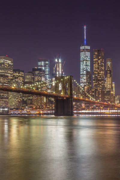 New York Skyline - Brooklyn Bridge 2016 (7) van Tux Photography