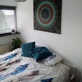 Klantfoto: Mandala-Illusion grün van Marion Tenbergen