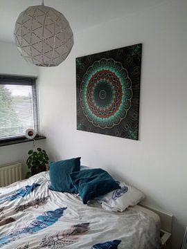 Klantfoto: Mandala-Illusion grün