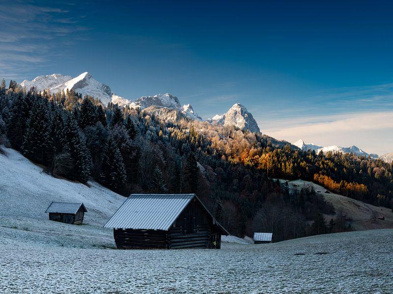 Morgenstimmung am Wettersteingebirge von Andreas Müller