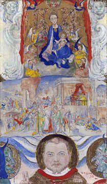 James Ensor. Icoon van Maagd Maria met portret
