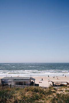 Strandtent bij het strand van Zandvoort aan Zee van Evelien Lodewijks