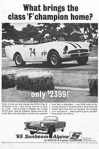 Vintage advertentie '65 Sunbeam Alpine! van