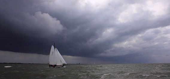 Lemsteraak sailing home van Hielke Roelevink