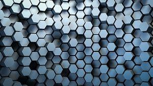 Honingraat patroon van Jonas Weinitschke