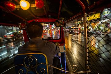 Bangkok door met de tuktuk van