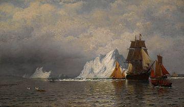 Walfangschiffe von William Bradford an der Küste von Labrador