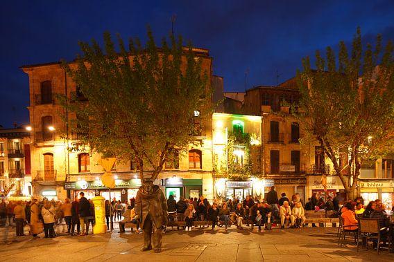 Altstadt bei Abenddämmerung, Salamanca, Castilla y Leon, Kastilien-Leon, Spanien, Europa