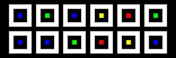 Nested | Center | 06x02 | N=02 | Random #07 | RGBY van Gerhard Haberern
