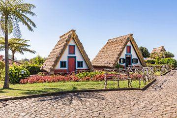 Casas de Colmo in Santana auf der Insel Madeira von Werner Dieterich