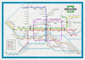 Plan du métro Rotterdam 2050 sur Frans Blok