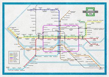 Plan du métro Rotterdam 2050