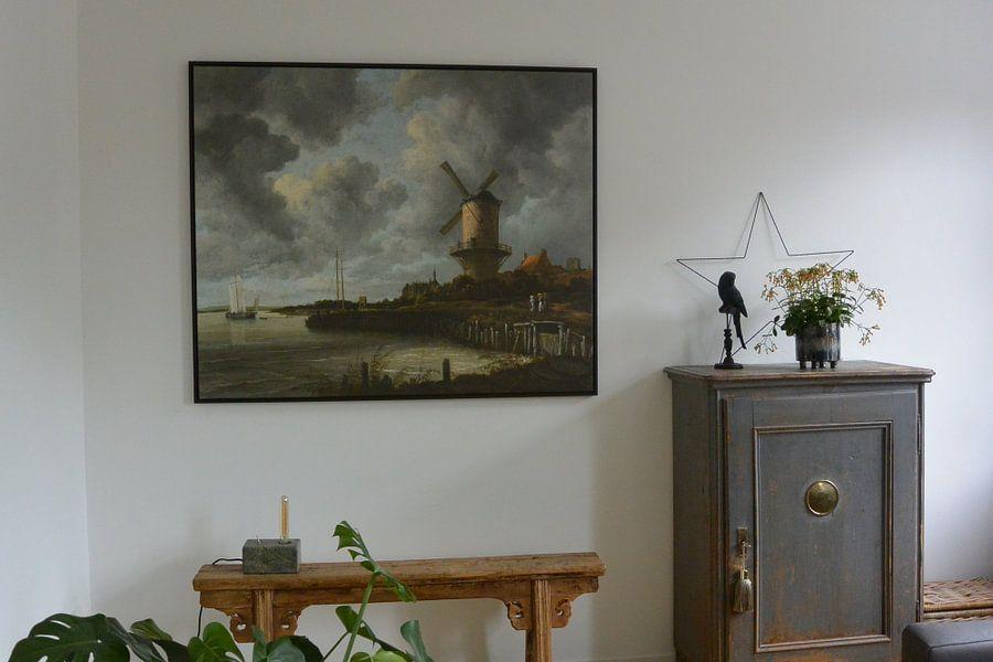 Klantfoto: De molen bij Wijk bij Duurstede, Jacob Isaacksz. van Ruisdael, op canvas