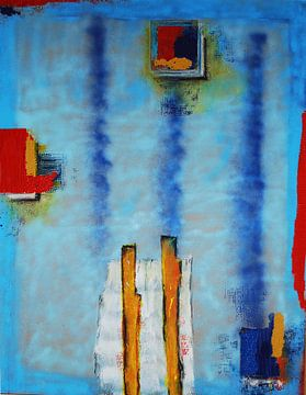 Vier Farbfelder von Klaus Heidecker