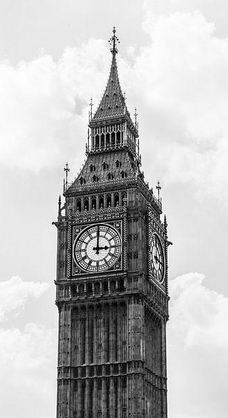 Big Ben zwart-wit van Barbara Koppe