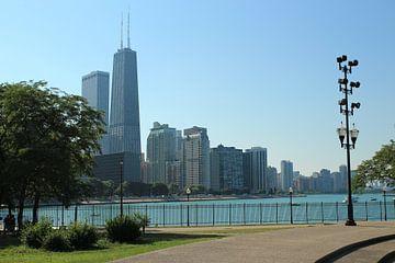 Chicago strand met Hancocktower. van