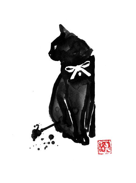 Katze mit Krawatte von Péchane Sumie