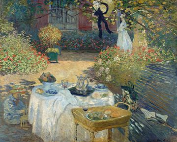 Das Mittagessen: Monets Garten in Argenteuil - Claude Monet