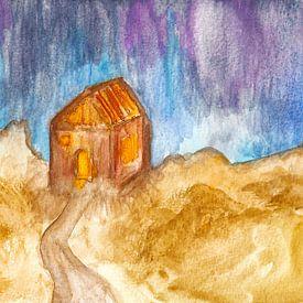 Maison en bois isolée sur Kaat Zoetekouw
