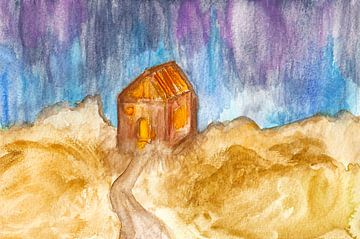 Abgeschiedenes Holzhaus von Kaat Zoetekouw