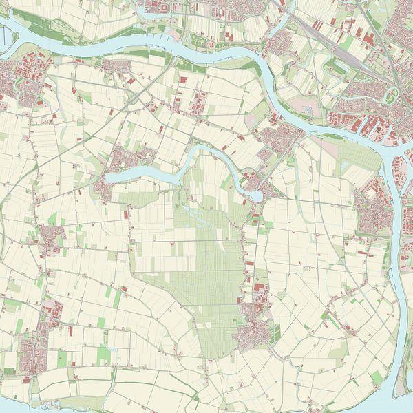 Kaart vanBinnenmaas van Rebel Ontwerp
