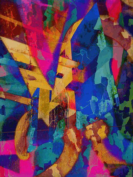 Modern, Abstract Digitaal Kunstwerk – I Remember The Days (Links) van Art By Dominic