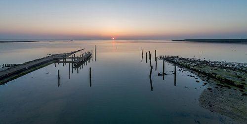 Haven van Sil Texel Zonsopkomst van