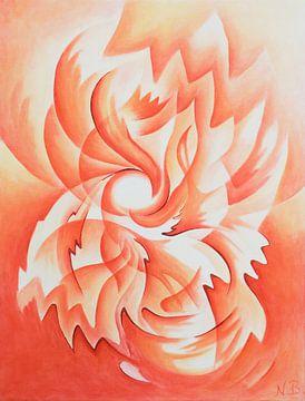Flammenblume van Nina Baydur
