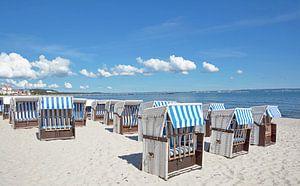 Binz strand op het eiland Rügen van Peter Eckert