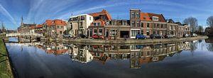 Oude gracht Weesp panorama Weesp in Beeld van
