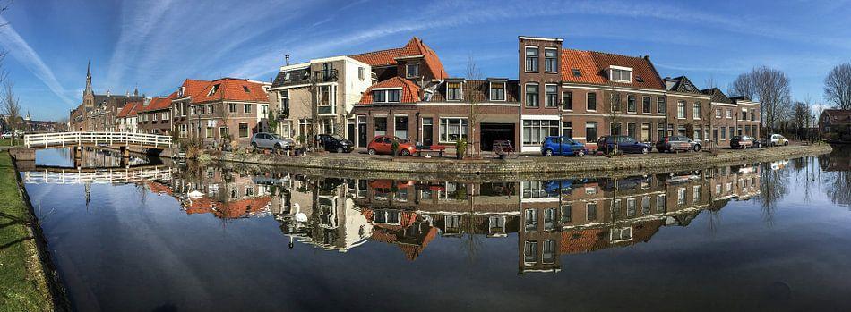 Oude gracht Weesp panorama Weesp in Beeld