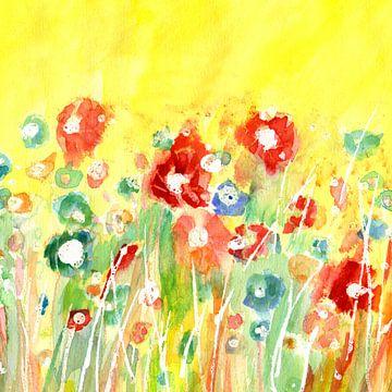 bloemenweide van Claudia Gründler